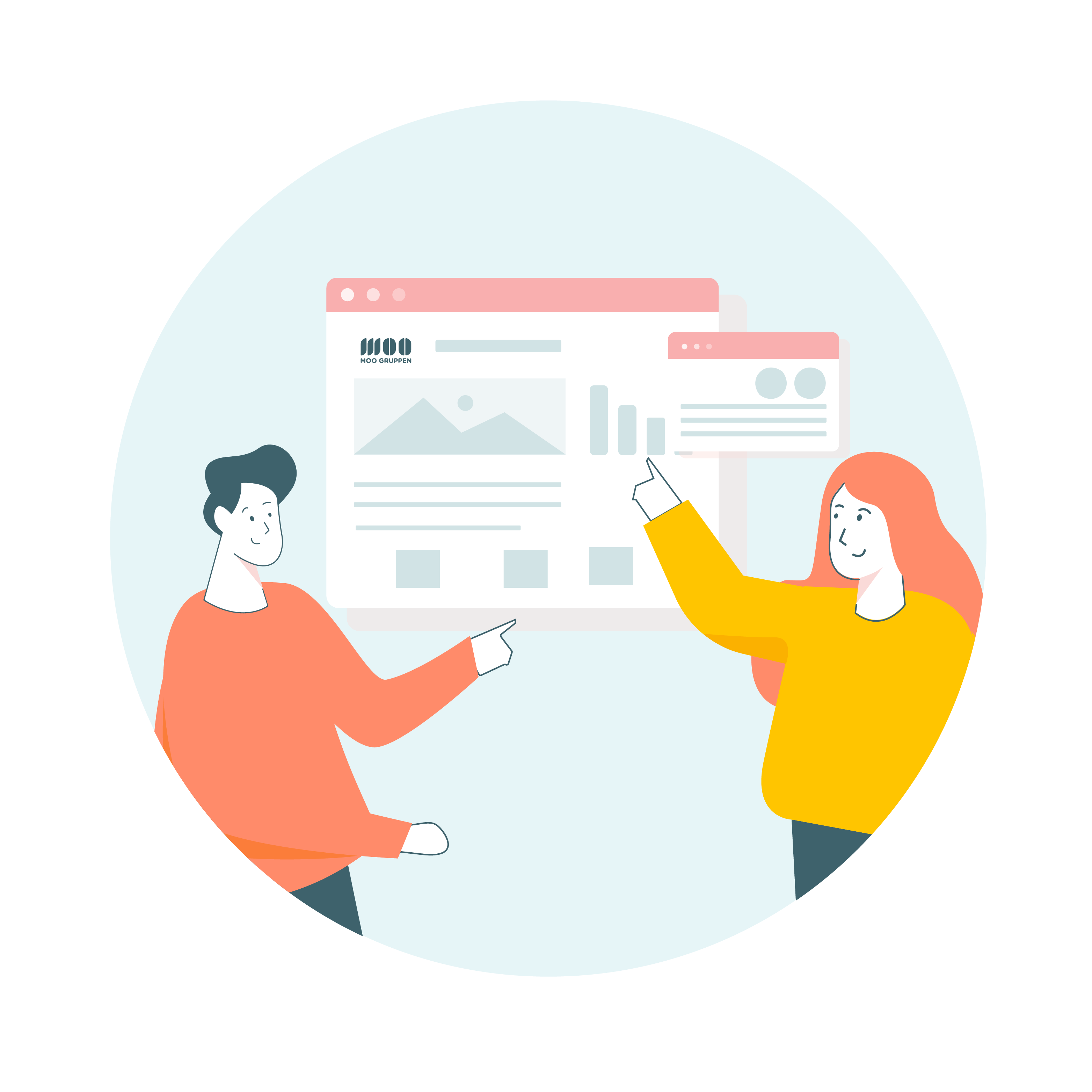 Moogruppen Webdesign nettside