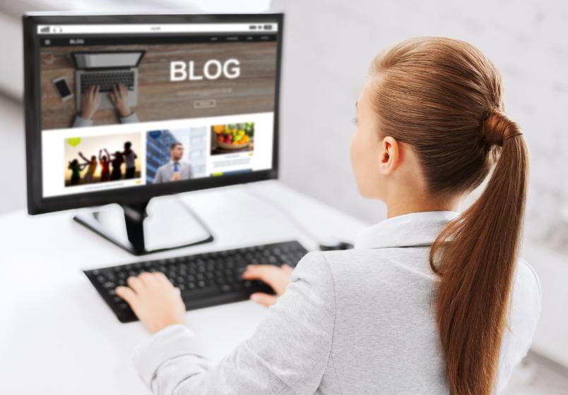 Blogg for nettbutikk, design