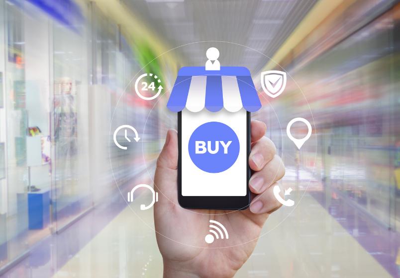 Netthandel salg, enkelt å bruke telefonen